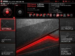 Die UEFI-Advanced-Ansicht beim MSI Z270 Gaming M7.
