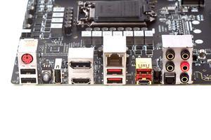 Das I/O-Panel beim MSI Z270 Gaming M7.