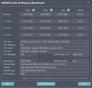 Core i7-11700K - DDR4-2933 1:2