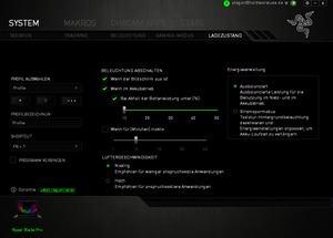 Die Software des Razer Blade Pro