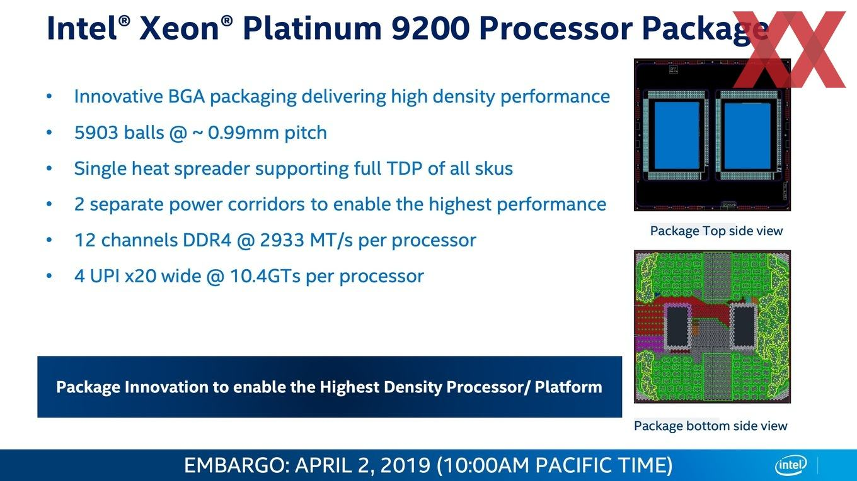 Intel Xeon Scalable 9200 Serie