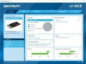 Im SSD Utility lässt sich unter anderem die HMB-Nutzung der Toshiba OCZ RC100 ablesen