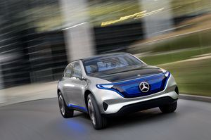 Das SUV Generation EQ soll zeigen, wie das erste reine Elektrofahrzeug der Stuttgarter aussehen könnte (©: Mercedes Benz)