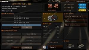 Der EZ-Mode beim ASRock Z270 Killer SLI.