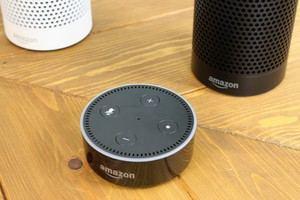 Der Echo Dot ist deutlich kleiner und kommt ohne Lautsprecher aus