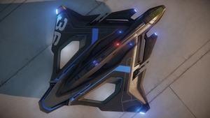 Die Sabre Raven ist ein exklusives Schiff, das Käufer der Intel Optane SSD 900P für das Spiel Star Citizen erhalten. (Quelle: Roberts Space Industries Corp.)