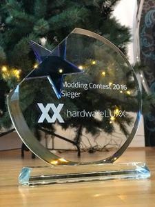 Der Pokal zum Modding-Contest 2016 auf Hardwareluxx