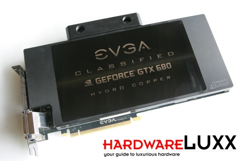 EVGA GeForce GTX 680 Classified Hydro Copper