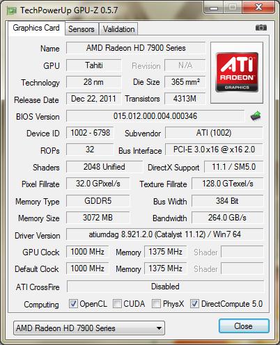 Обзор и тестировение Gigabyte Radeon HD 7970 (GV-R797OC-3GD)