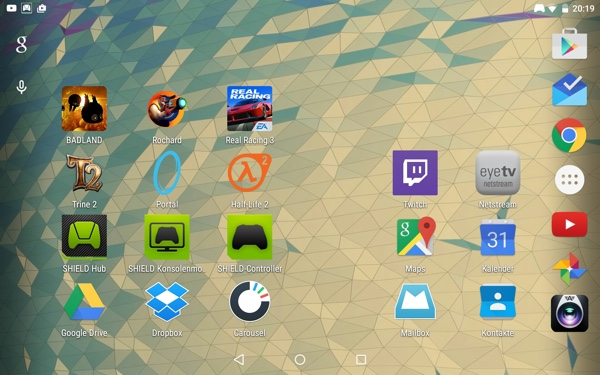 Android 5.0 Lollipop на NVIDIA Shield Tablet