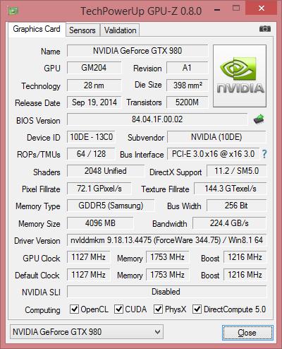 Скриншот GPU-Z видеокарты ASUS ROG G20