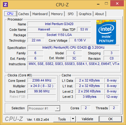 CSL Speed 4201 CPU-Z