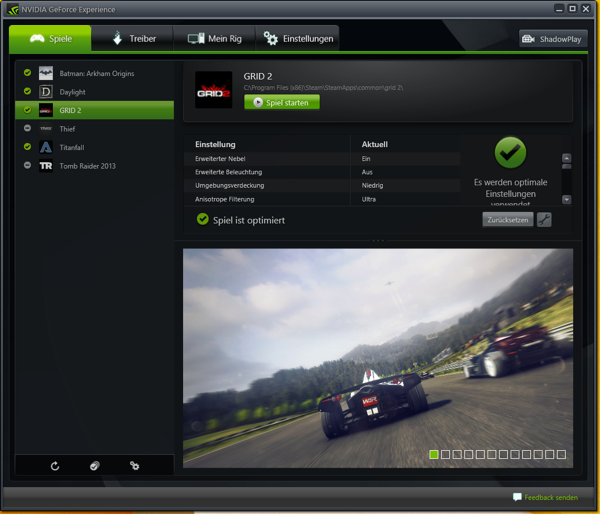 NVIDIA GeForce Experience GRID 2