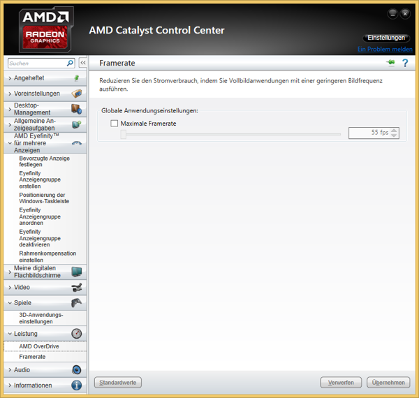 AMD Catalyst Control Center: FRTC