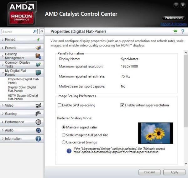 AMD Catalyst Control Center: VSR