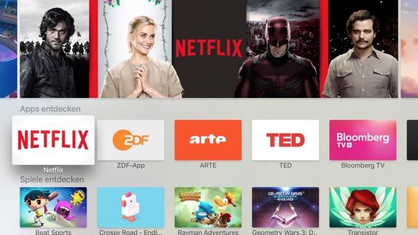 Новый пользовательский интерфейс tvOS