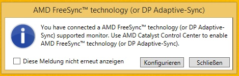 AMD FreeSync im Catalyst Treiber