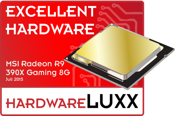Hardwareluxx Excellent Hardware Award für die MSI Radeon R9 390X Gaming 8G
