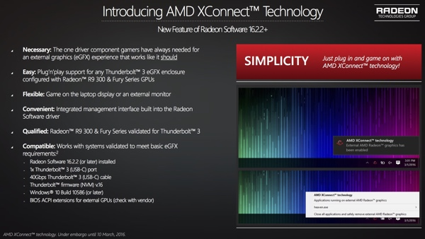 AMD XConnect Technologie