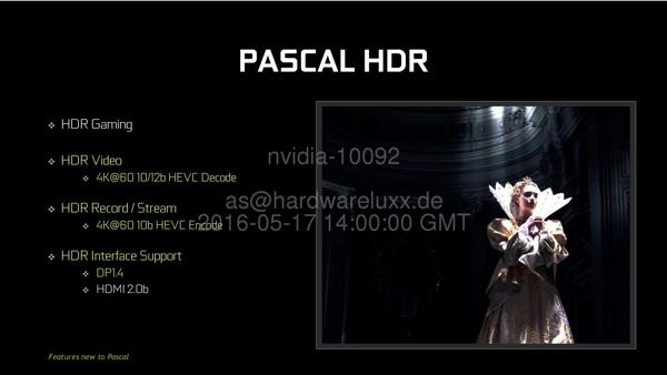 HDR в архитектуре Pascal
