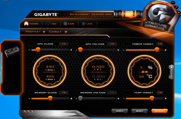 Gigabyte Xtreme Gaming Software