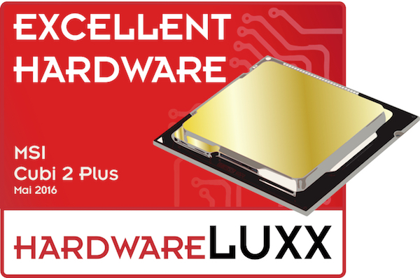 msi cubi2plus award