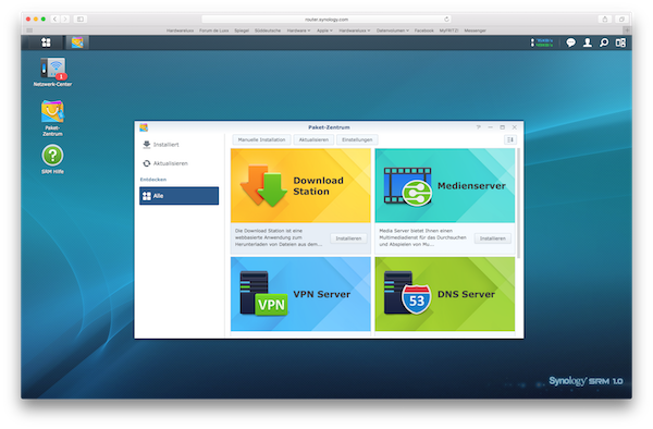 Vpn ac synology - How to access router options