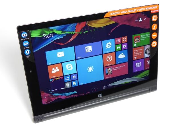 lenovo yoga tablet 2 mit windows 10 im test hardwareluxx. Black Bedroom Furniture Sets. Home Design Ideas