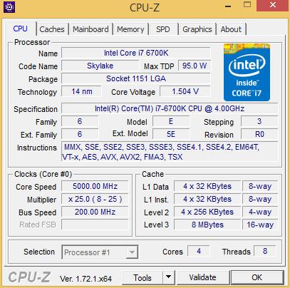 cpuz6700OC
