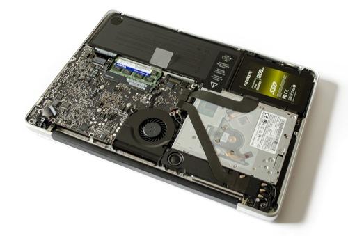 Offenes MacBook Pro