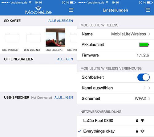 MobileLite-App von Kingston