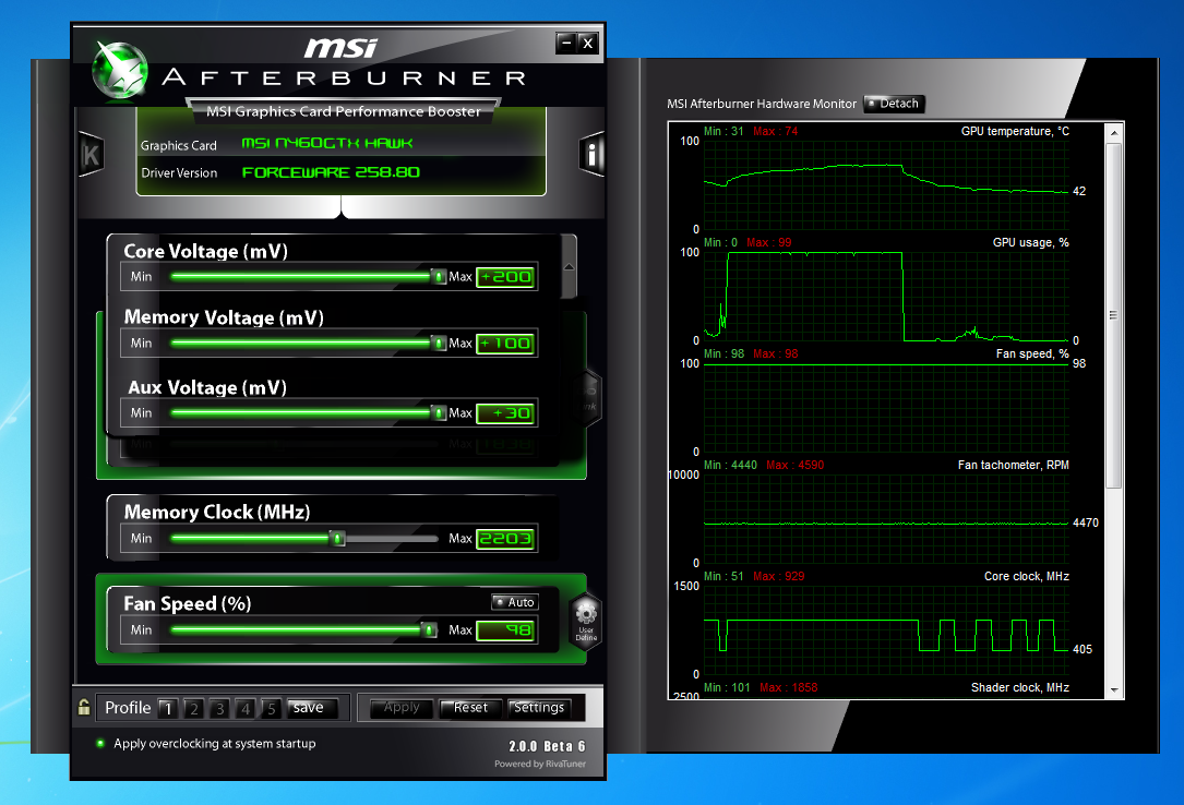 how to start recording with msi afterburner