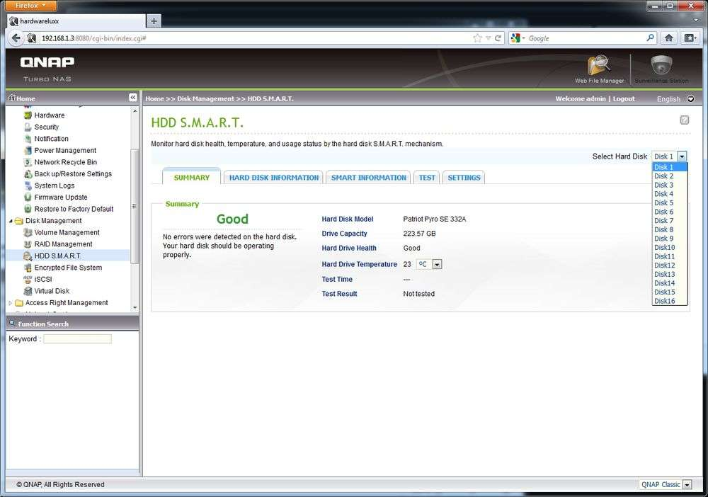 HDD SMART