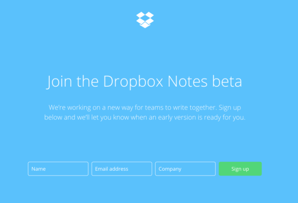dropboxnotessignup