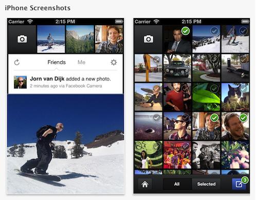 Facebook camera_app_for_iOS