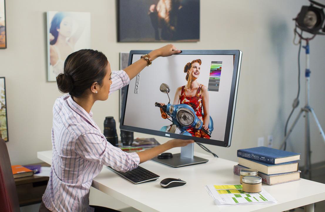 экране экран для работы с фотографией сборки