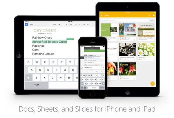 Google Docs, Sheets und Slides