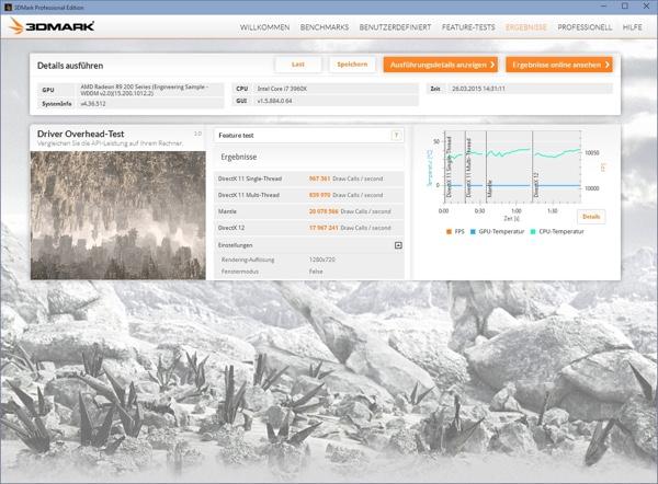 Futuremark 3DMark API Overhead Test