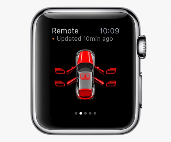 Apple Watch App von Porsche