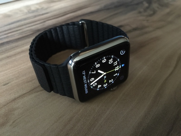 Apple Watch Stainless Steel 42 mm mit Lederarmband