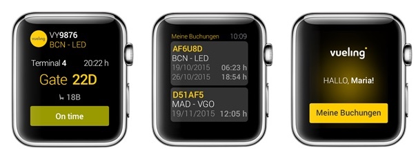 Vueling App auf der Apple Watch