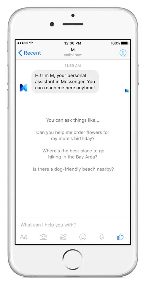 Facebook M - digitaler Assistent in der Messenger App