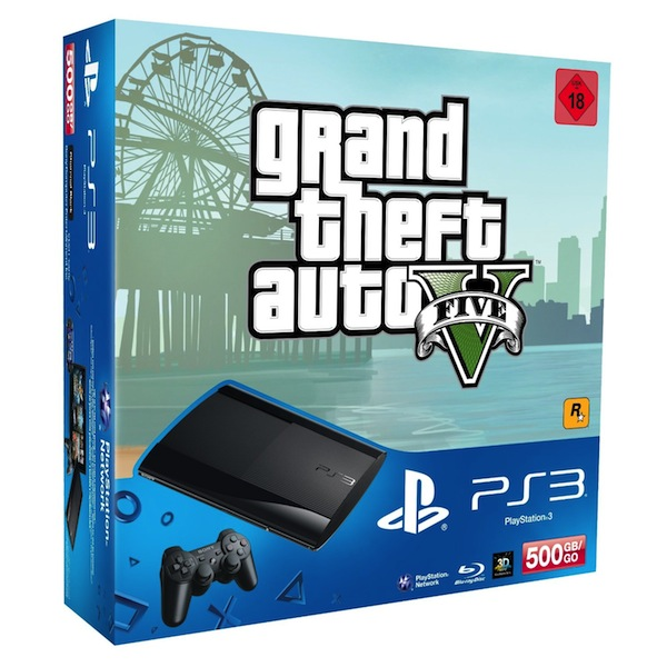 sony schn rt bundle mit gta v und playstation 3 update. Black Bedroom Furniture Sets. Home Design Ideas