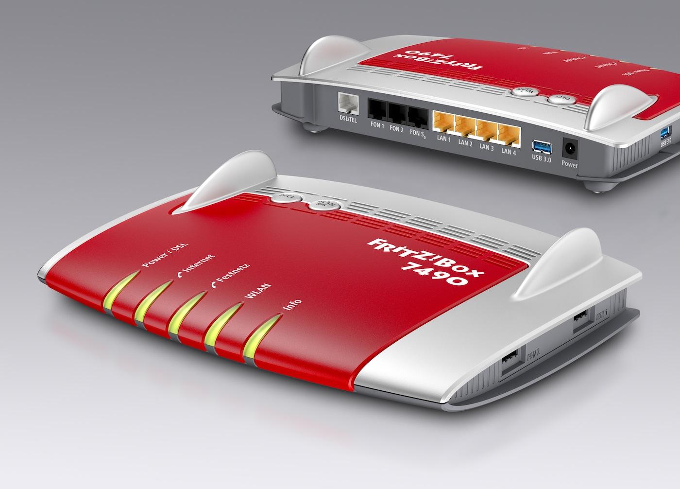 AVM Fritz!Box 7490 mit USB 3.0 und WLAN-ac - Hardwareluxx