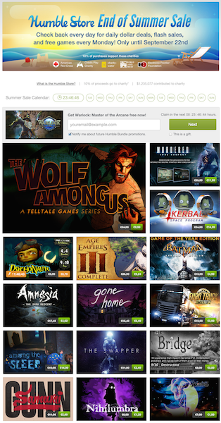 humble bundle store end of summer14 k