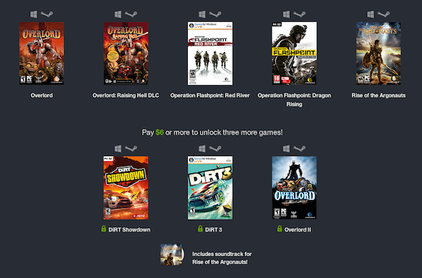 humble bundle weekly codemasters k