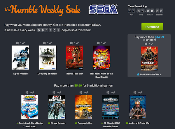 humble bundle weekly sega k