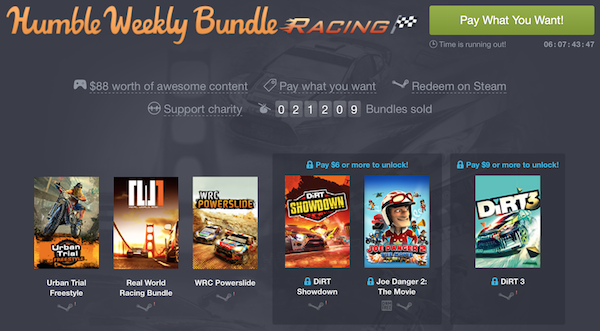humble weekly bundle-racin dirt k