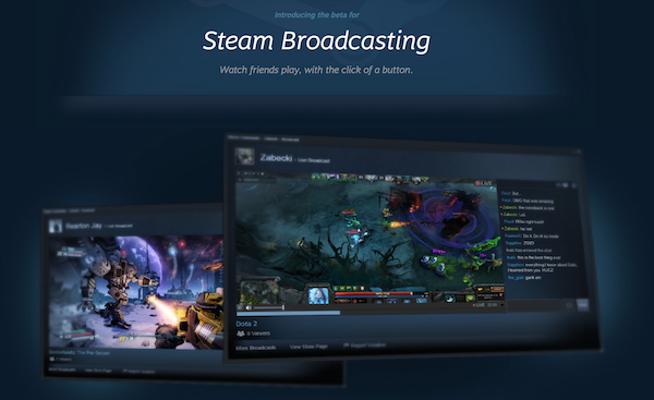 steam broadcasting beta k