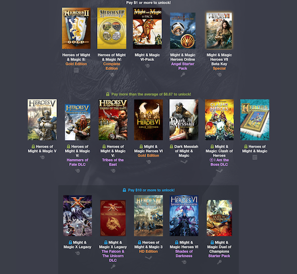 humble weekly bundle might magic k